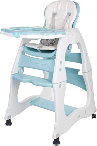 Chaise Haute pour Bébé Multifonctionnel 2 en 1 Vert Menthe