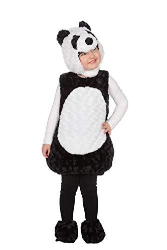 Wilbers Panda Kostüm Bär Pandabär Body Tierkostüm Tier Kinder Karneval Fasching 86-116 Schwarz/Weiß 116 (ca. 6 Jahre) (Panda Bär Kostüm Kleinkind)