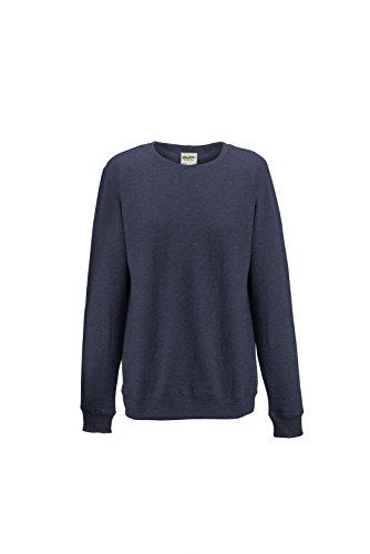 AWDis - Sweat-shirt -  Femme Bleu - Navy Heather