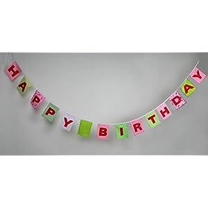 Wimpel Happy Birthday ,Girlande zum Geburtstag, Wimpelkette mit Namen, Geburtstagswimpel