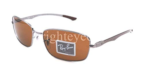 Ray Ban Tech RB 8308 Gunmetal Carbon Fiber Frame Brown Lens Sunglasses