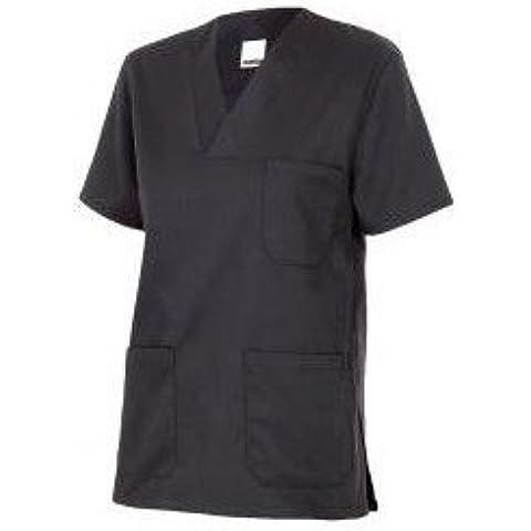Velilla 589/C0/T0 - Camisola pijama de manga corta con escote en pico (moderno) color negro