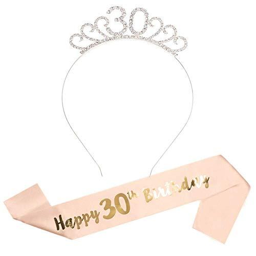 AKAMAS - Juego de Tiara de cumpleaños para niña