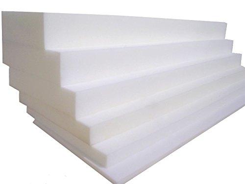 Ersatz Sofas Schaumstoff Top Grade Polster Kissen/Seat Pads für Seating Esszimmer Sitz Hocker Reflex-Schaum, Polsterschaum, Dicke: 12,7 cm (5 Zoll), weiß, 22
