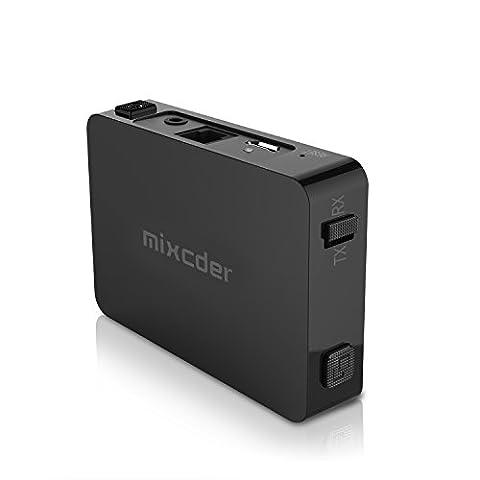 Mixcder TR008 Transmetteur Bluetooth 4.2 Récepteur et Émetteur Sans Fil (APTX Faible Latence, Double Appairage) Adaptateur 2-In-1 Avec 3.5mm Sortie Stéréo et Fibre Optique Port Audio Pour TV PC Haut-parleurs Systèmes de Son à