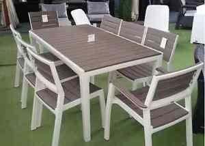 Set tavolo e 6 poltrone HARMONY in resina KETER con stampo finto legno - 3