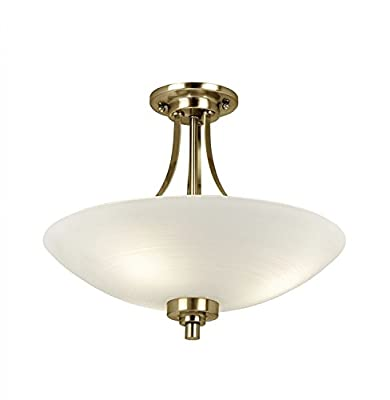 Welles 3 Light Semi Flush Light by Endon