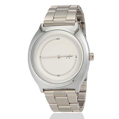 XKC-watches Herrenuhren, Frauen Domino Muster runden Zifferblatt Legierung Band Quarz Analog Fashion Watch (Farbe Sortiert) (Farbe : Schwarz) (Domino-muster)