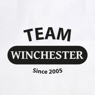Team Winchester - Stofftasche / Beutel Rot
