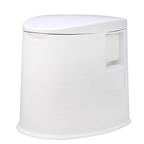 LI JING SHOP - La chaise portative de toilette peut se déplacer pour des enfants et des femmes enceintes à l'intérieur du canon X1 Environmental PP Resin 37X43X44cm Couleur: Kaki, blanc ( Couleur : Blanc )