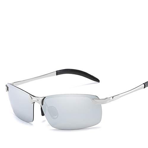 CCGSDJ Fahren Photochrome Sonnenbrillen Männer Polarized Chameleon Discoloration Sonnenbrillen Für Herren Mode Randlose Quadratische Sonnenbrillen