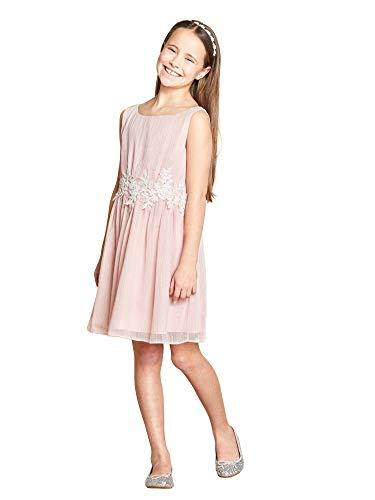 b28b4366b Yumi Girl - Vestido - Sin Mangas - para niña Rosa Rosa Claro 11/12 Años