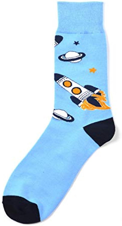 YZWZ calze Crazy Space Animal Crew Socken Winter Bunte Kühle Rakete Astronaut Dinosaurier Kleid Socken für Männer... | Imballaggio elegante e robusto  | Maschio/Ragazze Scarpa