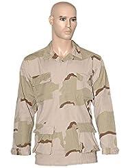 Teesar BDU Camiseta Ripstop prelavado 3-Colour Desert