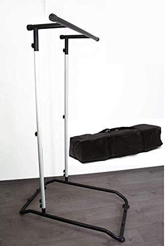 Pull Up Fitness Bar, barra de tracción multifunción, barra para de ejercicios, desmontable, Home Fitness Station de color negro