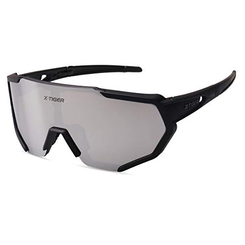X-TIGER Gafas Ciclismo polarizadas 3 Lentes