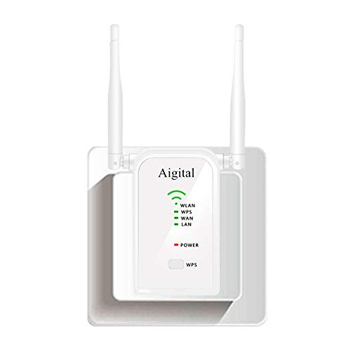 WLAN Repeater 300Mbit/s Mini Router Signalverstärker(2 Ports, WPS Taste/Repeater/Access P