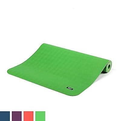Natur-Kautschuk Yogamatte ECO PRO, extrem rutschfest, 4mm, maschinenwaschbar, 100% Naturmaterial, Ökotex 100, ohne Zusätze, Antirutsch-Yogamatte ECOPRO, 185 x 60cm