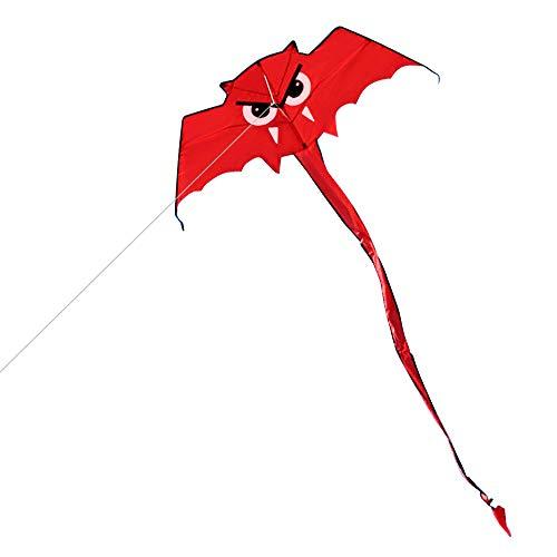Niedlich Für Kostüm Einfach Erwachsene - Walmeck- Niedlicher Fledermaus-Drachen für Kinder und Erwachsene Outdoor Sport Single Line Flying Kite mit 30m Flugleine
