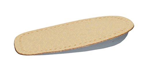 FabaCare Corbby Heel Orto Premium Schuheinlagen Leder orthopädisch Ferse, Fersenkissen, Fersenkeil, Einlage für bequemes Gehen und Laufen, 1 Paar, 1,5-2 cm -