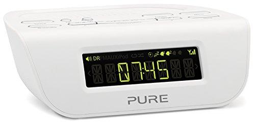Pure Siesta Mi Serie 2 Radiowecker (Digitalradio, DAB/DAB+/UKW-Tuner, Sleep-Timer und Weckfunktion, Dämmerfunktion, 20 Senderspeicherplätze), Weiß