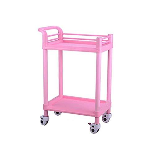 CHDE Regal Trolley-Double Beauty Salon Warenkorb Instrument Warenkorb Krankenhaus Nagel Warenkorb Werkzeugwagen Mobile Werkzeugwagen (Size : 64.5 * 44.5 * 90cm) -