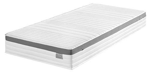 Traumnacht Komfort 7-Zonen Kaltschaummatratze, mit Memoryschaumauflage Härtegrad 3 (H3), 140 x 200 cm, weiß
