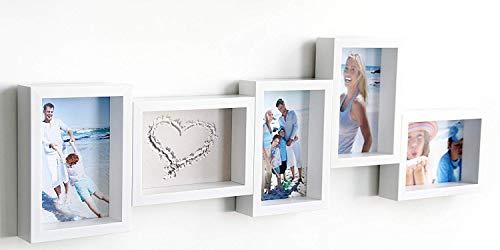 Euratio CPS Fotoleiste Apart weiß für 5 Fotos 10x15cm