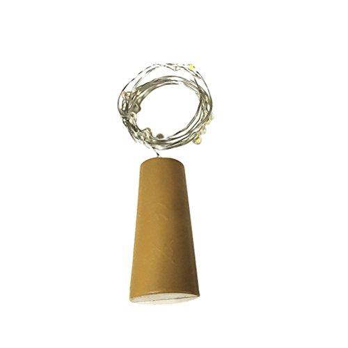 Wein-Flaschen-Lichter mit Kork LED-Kork-Lichter Kupferdraht-Flaschen-Lichter für DIY Weihnachten Halloween-Hochzeits-Party-Dekoration (warmes weißes Licht) (Halloween Für Wein-flaschen-dekoration)