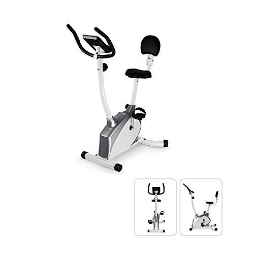GLQ Indoor-Übungs-Bike-Magnetic Control Wheel Fitness mit Herzfrequenz-Sensor, Einstellbarer Sitz, LED-Monitor und Sport-Profisport