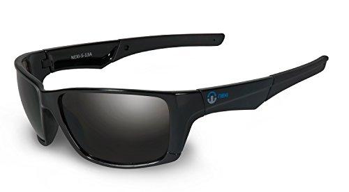 Nexi Sportbrille Sonnenbrille für Damen und Herren - ideal für Sport und Freizeit - sehr leicht - S-13A, schwarz