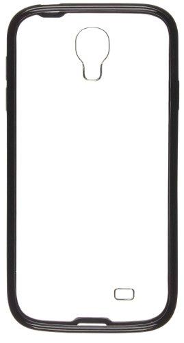 Pro-Tec Hard Shell Hülle Clip-On Case Cover für Samsung Galaxy S4 Transparent mit Farbiger Umrandung - Weiß Schwarz