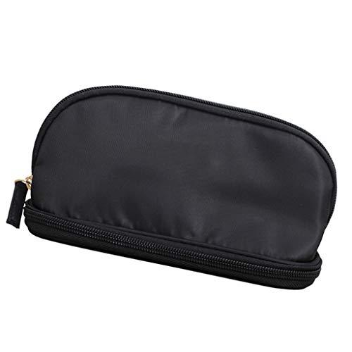 Liuhoulin Kosmetiktasche Tragbare Weibliche Aufbewahrungstasche Kosmetiktasche Reise Waschen Tasche Make-Up Pinsel Tasche Kleine Körper Große Kapazität (Color : Black, Size : 23 * 13 * 15CM)