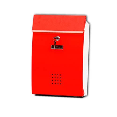 AZHom Zinn-Haut-Briefkasten Villa-Briefkasten zweifarbiges Mosaik Amerikanische Mailbox-Wand im Freien wasserdichter Briefkasten Posteingang Briefkasten (Color : Red) - Familie Licht Im Freien Wand