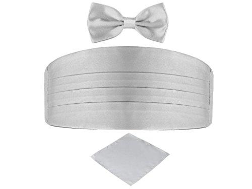 Ensemble ceinture de smoking, pochettre et noeud papillon gris perle 51a81c8eabd