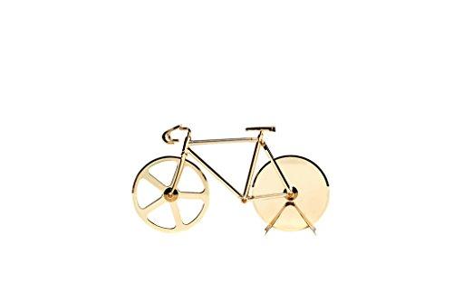Doiy Antartica Fixie Bike Pizzaschneider, blau & weiß, in Fahrradform, Aluminiumlegierung und Edelstahl gold (150 Fixie-bikes Unter)