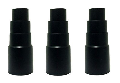 3 x Reduzierstück Werkzeugadapter passend für Kärcher Nass Trocken und Werkstatt Staub Sauger Maschinen Absaug Stufen Adapter