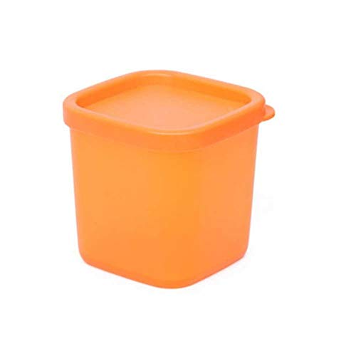 CHOULI Home Kitchen Glass jar Glass Storage Box Seal with Lid Food Canister 230ml Orange Orange Cannister