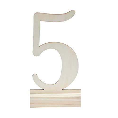 Tischnummern 1-12 aus Holz