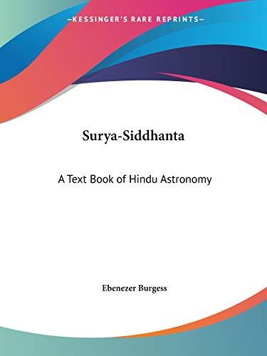 Surya-Siddhanta: A Text Book of Hindu Astronomy, 1858