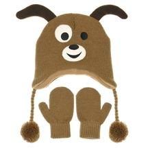 Nuzzles Mütze und Fäustlinge-Hund klein (Fäustlinge Mütze)