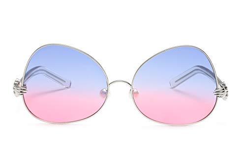 Smile Neue Metal-Frame HD Ocean Film Fashion Männer und Frauen Sonnenbrillen Pearl Nose Pad Fashion Sonnenbrille,NO3 (Sonnenbrille Leser 150)