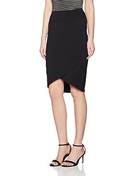 iEFiEL Falda Plisada de Charol Minifalda con Tanga Interior Llamativa para Mujer