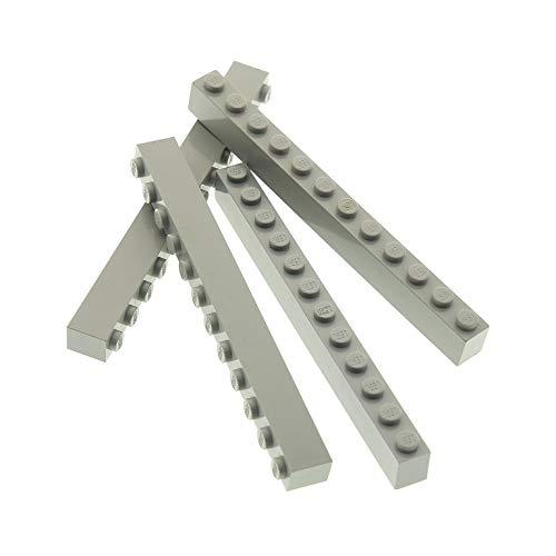 4 x Lego System BAU Stein alt-hell grau 1x12 Basis Basic Brick Set Star Wars 4482 4730 7316 6979 10020 7152 6090 6112