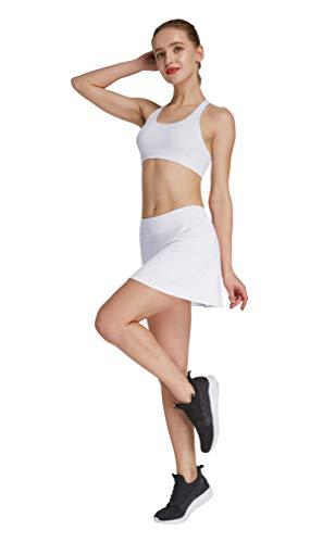HonourSport Damen Tennisrock mit Sporttights Skirt Minirock Sport Skort XS-XXL -