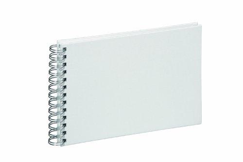 Pagna 12109-02 Spiralalbum 240 x 170 mm 40 Seiten, Leineneinband, weißer Fotokarton Farbe: weiß