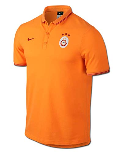 2014-2015 Galatasaray Nike Authentic League Polo Shirt (Orange) 326311242