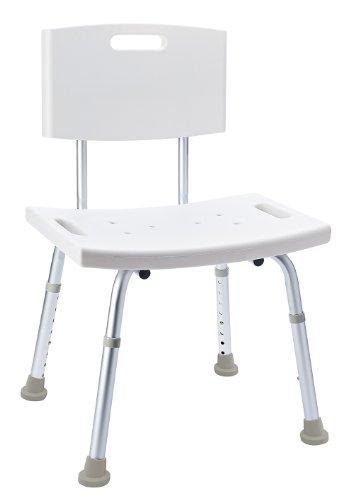 Ridder Komfortabler Badezimmer-Stuhl mit Rückenlehne und ergonomisch geformter Sitzfläche