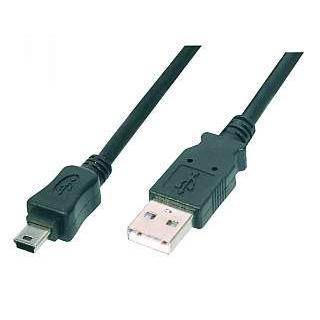 USB 2.0 Mini Kabel, USB-A Stecker-Mini USB-B Stecker, 1,0 m (Usb-zu-mini-b-usb-kabel)