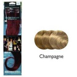 Balmain Pack de 2 - mèches d'extensions à clipser/coller en cheveux naturels Blond champagne 40 cm